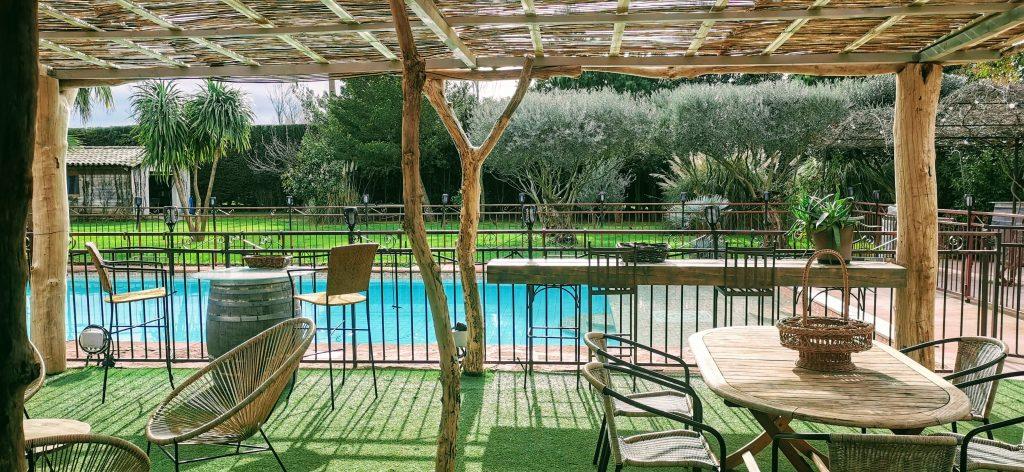 La Paillote des Coquilloux location de vacances en gîte de charme avec grande Piscine dans le 34 à Montpellier 0623022756