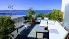 la grande Terrasse du Front de Mer location de vacances à la semaine ou au mois sur la plage de Palavas