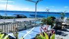 Vue de la grande terrasse du Front de Mer location de vacances à la semaine ou au mois sur la plage de Palavas