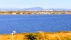 Vue sur Montpellier et l'arrière pays des Terrasses du Front de Mer location de vacances à la semaine ou au mois sur la plage de Palavas