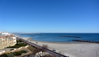 Vue du Front de Mer location de vacances à la semaine ou au mois avec grande terrasse sur la plage de Palavas